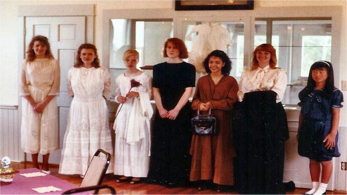 The 1990 Style Show L-R: Tina howard, Kam Nilson, Erin Britton, Char Boykin, Elisha ?, Kathie Anderson, Laurel Welch