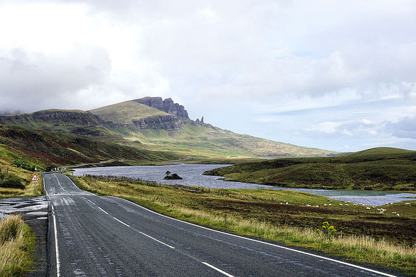 die A855 zum Old Man of Storr