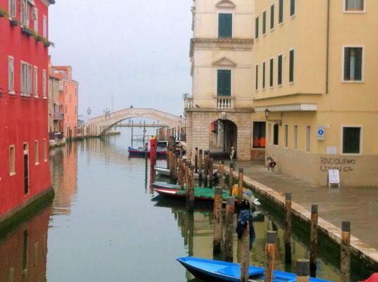 Chioggia Kanal Vena mit der Ponte Vigo