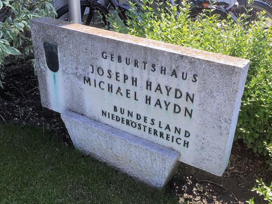 Tafel Geburtshaus Haydn