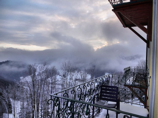 Blick vom Balkon Hotel Winterrbach