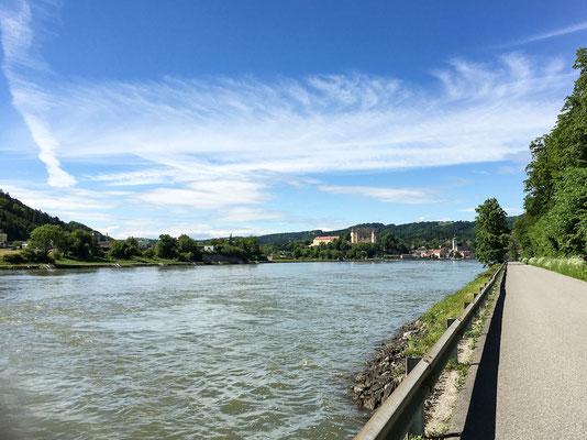 Neustadtl an der Donau mit Blick auf Grein