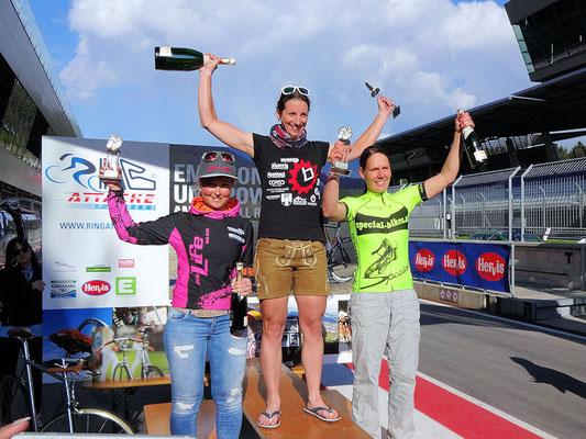 Frauenpower nach 25 Runden (107km) Ringattacke