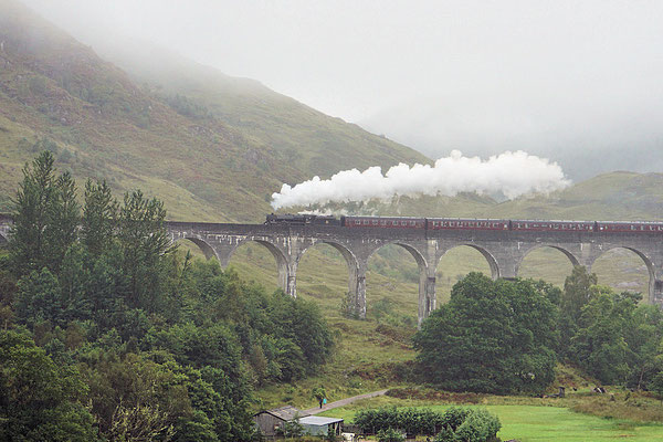 Glenfinnan-Viadukt/Jakobite Steam Train
