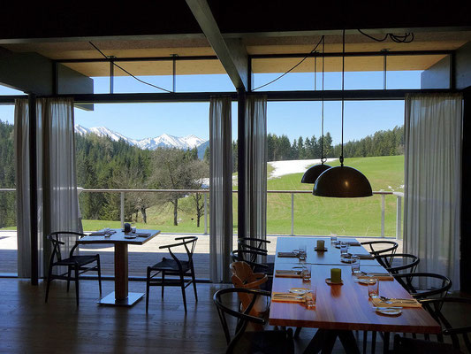 tolle Aussicht vom Restaurant Lurgbauer