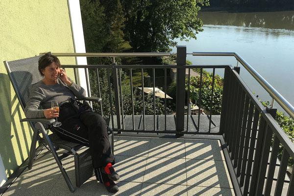 Gesundheitshotel Guggerbauer / relaxen am Balkon