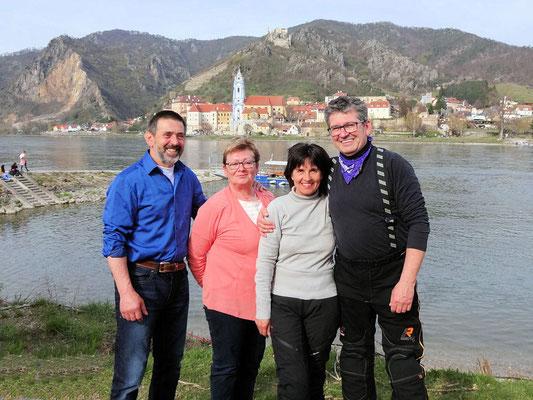 Hansi, Hilde, Hilde und da Biker-Peppal (Josef)