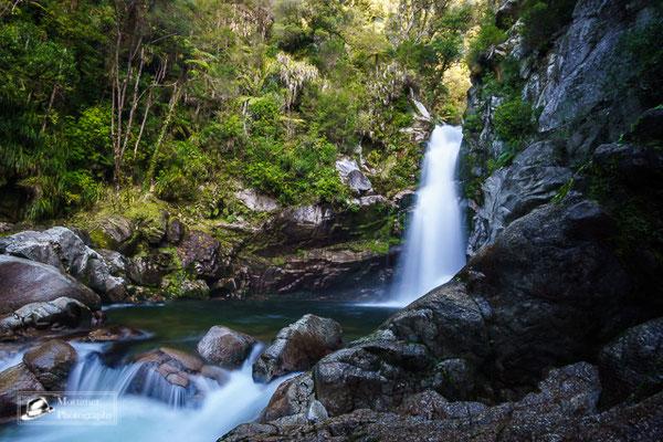 beautiful waterfall at wainui