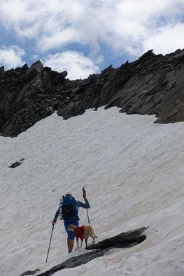 kleine Gletscherquerung