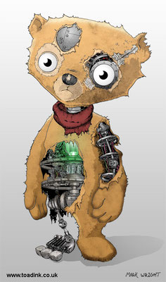 Bear Bot (2015) Pen and digital. All rights reserved.
