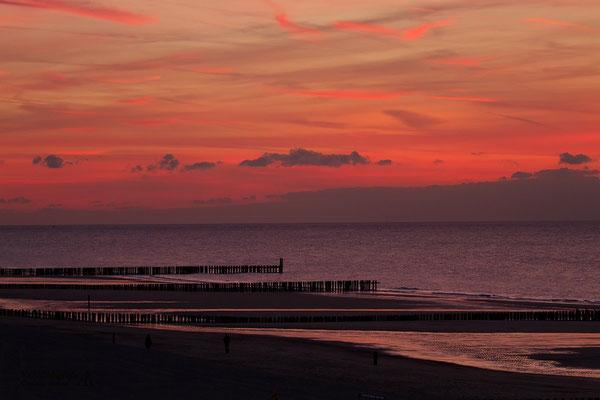 Sonnenuntergang an der Nordsee (Holland)