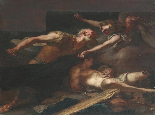 Angelo Trevisani - Sacrificio di Isacco - olio su tela - cm 200x200 - secolo XVIII