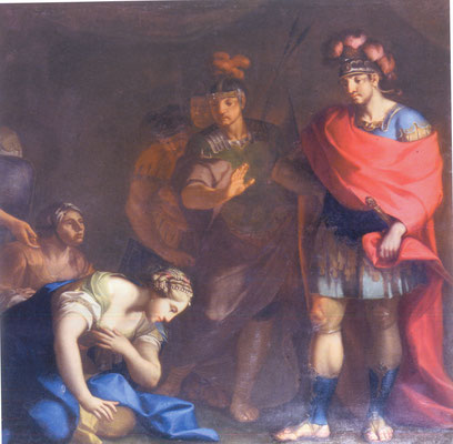 Davide ed Abigail - olio su tela - cm 200x200 - secolo XVIII