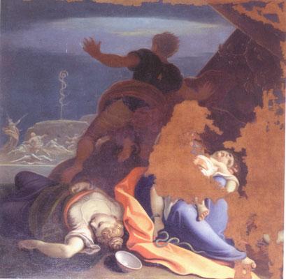 Louis Dorigny -  Mose e il serpente di bronzo - olio su tela - cm 200x200 - secolo XVIII