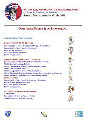 Dossier de Presse & de Sponsoring page 1