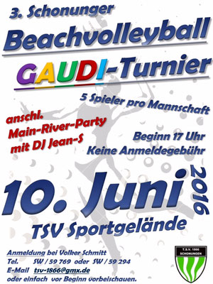 Beachvolleyball GAUDI-Turnier 2016 - DJ Jean-S