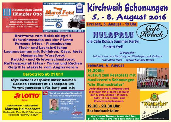Kirchweih Schonungen 2016