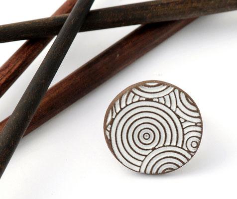 bague en poterie artisanat d'art