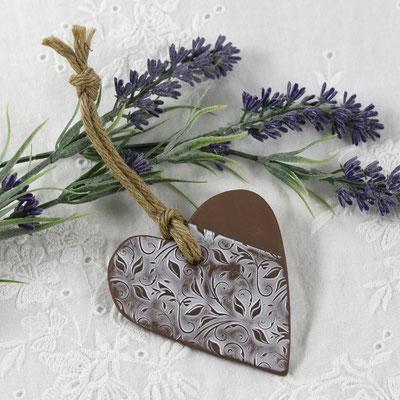 cadeau invité coeur en céramique blanc