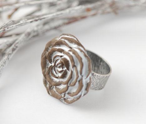 bague rose ceramique émaillée lilibulle