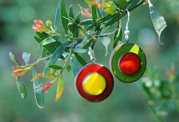 boucles d'oreilles en céramique artisanale lilibulle