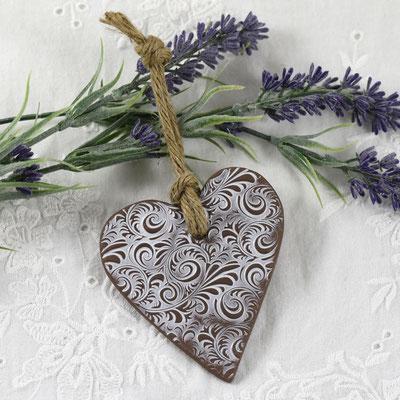 coeur artisanal en céramique cadeau mariage