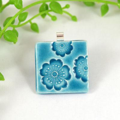 pendentif sakura poterie artisanale