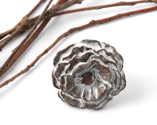 bague fleur ceramique marron lilibulle