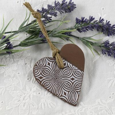 coeur a parfumer en terre cuite lilibulle