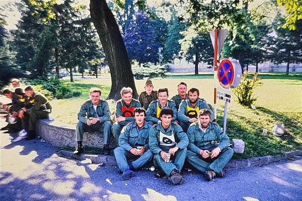 1985 - Wettkampfgruppe in Klosterneuburg