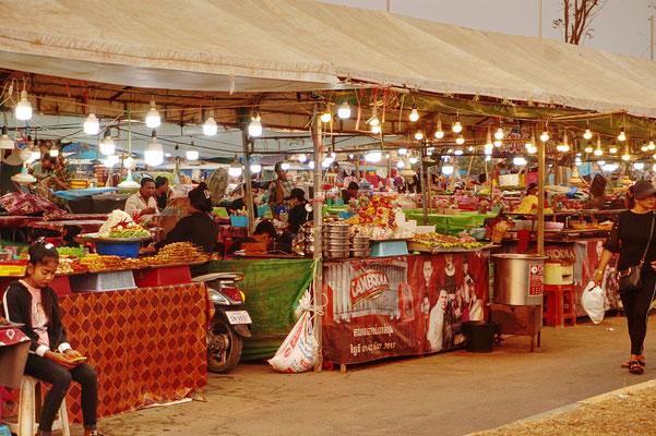 Night market in Kampong Spreu - Nur für Einheimische