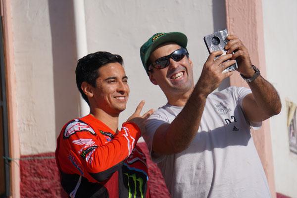 Nacho Conejo - ein beliebtes Selfiemotiv! / Atacama Rally Chile