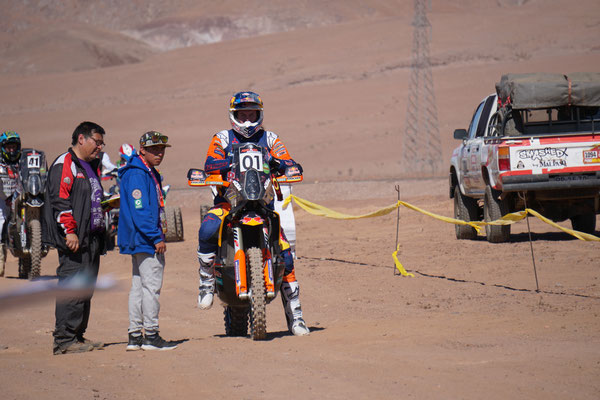Toby Price am Start / Atacama Rally Chile