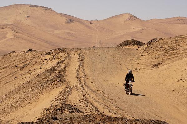 In den Atacam Dünen - Hier ist es sandig - CRF250L /  Atacama Rally - Chile