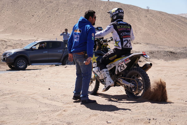 Andrew Short am Waypoint / Atacama Rally Chile