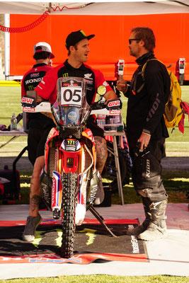 gespräch mit Ricky Brabec - ich konnte ihm glücklicherweise ein paar tipps geben :-) /  Atacama Rally - Chile