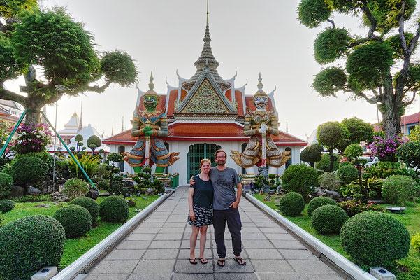 Ein beliebtes Motiv in Bangkok -Wir! ;-)