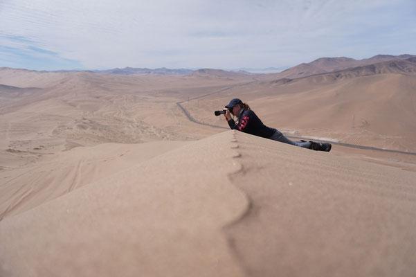 Fotografen Action auf der Düne / Atacama Rally Chile