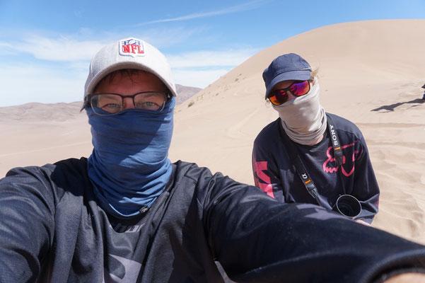Schutz vor feinstem Wüstensand /Chile