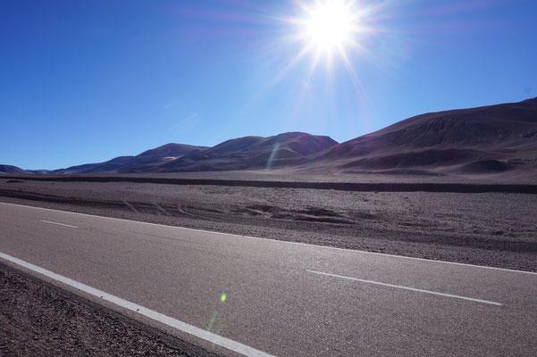Gleißende Sonne auf 3.500 Metern
