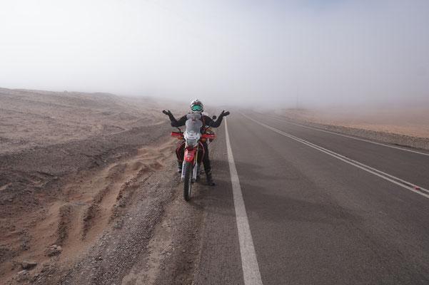 Nebel auf dem Weg zur Etappe / Atacama Rally Chile