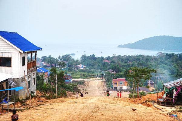 Blick von oben -Hier wohnen die Einheimischen