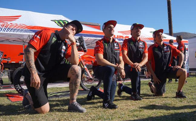 Team HRC Honda - Brabec, Cornejo, Benavides und Barreda nur Quatsch im Kopf /  Atacama Rally - Chile