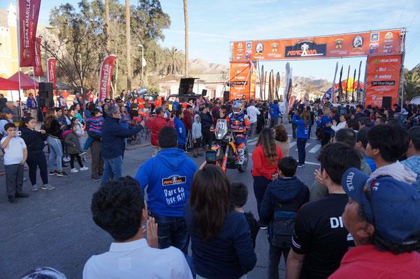 Toby Price bei der fahrervorstellung / Atacama Rally Chile