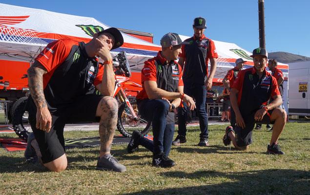 Das HRC Honda Rally team mit Barreda, Conejo, Brabec, Benavides /Chile
