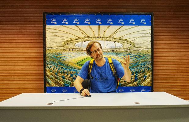 Pressekonferenz im Maracana  Stadion / Rio de Janeiro / Brasilien