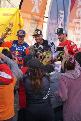 Siegerpodest der Atacama Rally 2019 /Chile