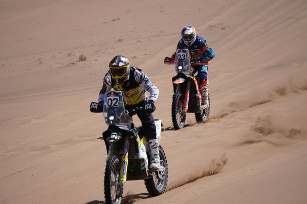 Walkner und Quintanilla rasen dem Ziel entgegen / Atacama Rally Chile