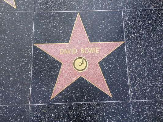 David Bowie im Walk of fame LA / Roadtrip USA