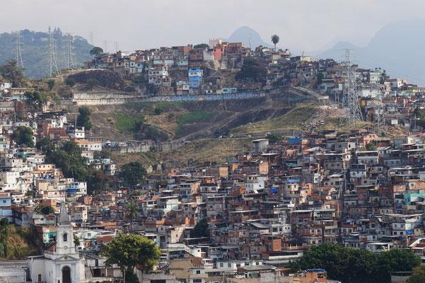 Eine farvela in / Rio de Janeiro / Brasilien